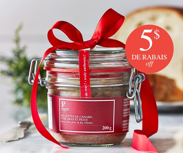 $5 OFF OUR DUCK, FOIE GRAS, & FIG RILLETTES
