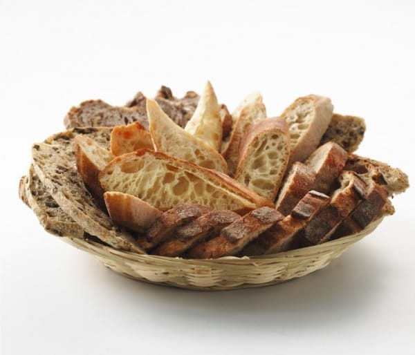 Basket of assorted breads