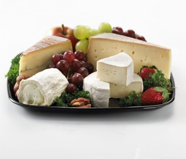 Platter of fine cheeses & fruit