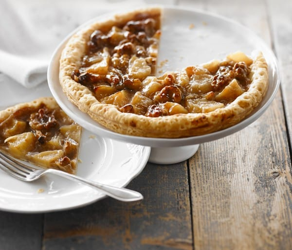 THIN-CRUST PEAR, NUT AND MAPLE PIE