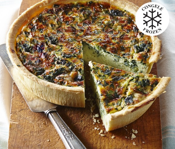 FROZEN, READY-TO-BAKE SPINACH QUICHE