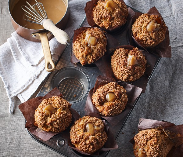 MAPLE PECAN MUFFIN WITH CREAMY CENTRE