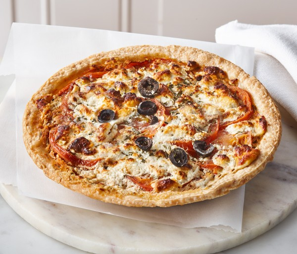 TOMATO AND GOAT CHEESE PIE