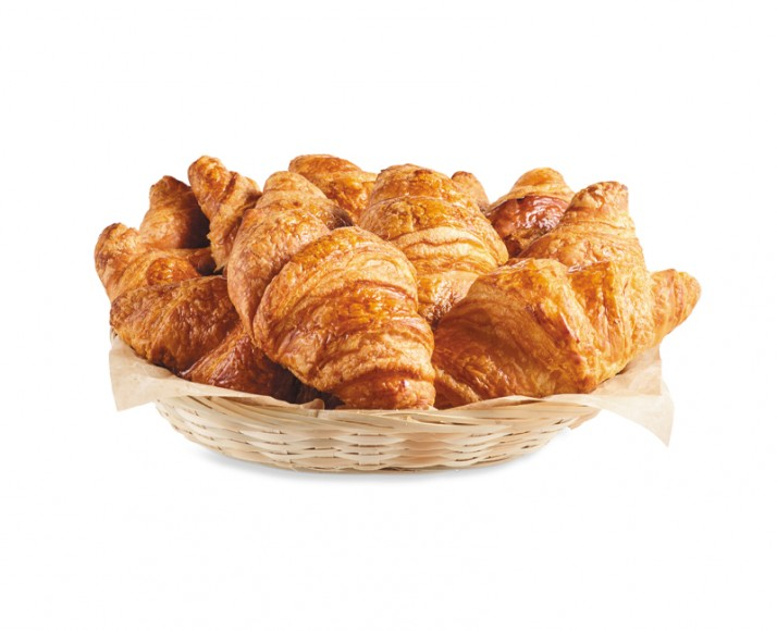 BASKET OF 100% BUTTER CROISSANTS