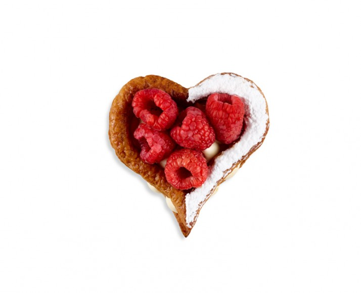 RASPBERRY PASSION FLAKY HEART
