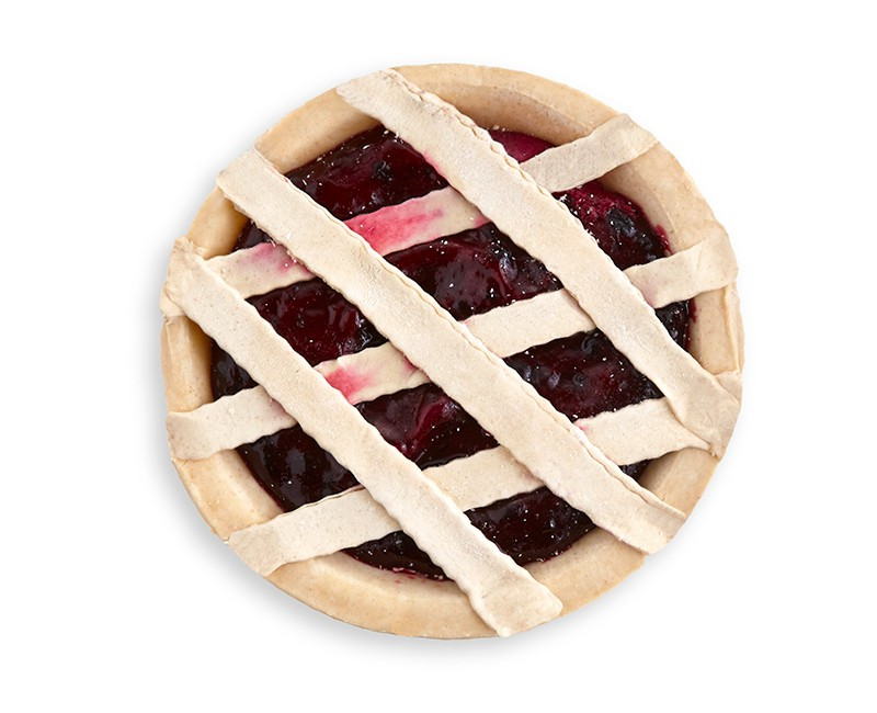 FROZEN, READY-TO-BAKE BLUEBERRY PIE