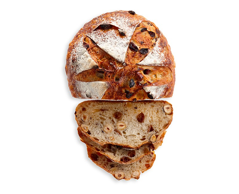 RAISIN, HONEY AND HAZELNUT SOURDOUGH