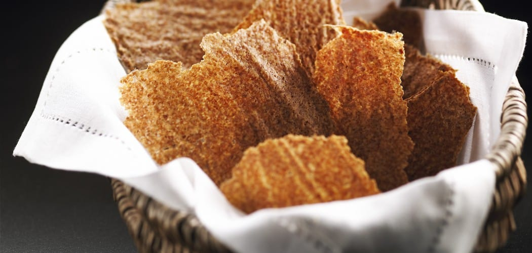 Baked (not fried) flaxseed chips