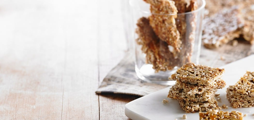Honey Sesame and Sunflower Seed Crackers