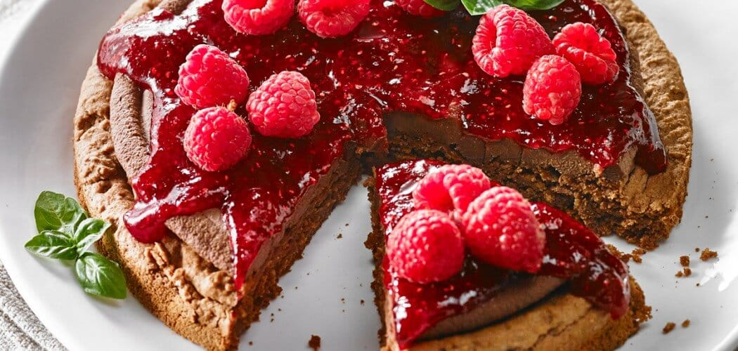 Chocolate-Cranberry-Raspberry Dacquoise