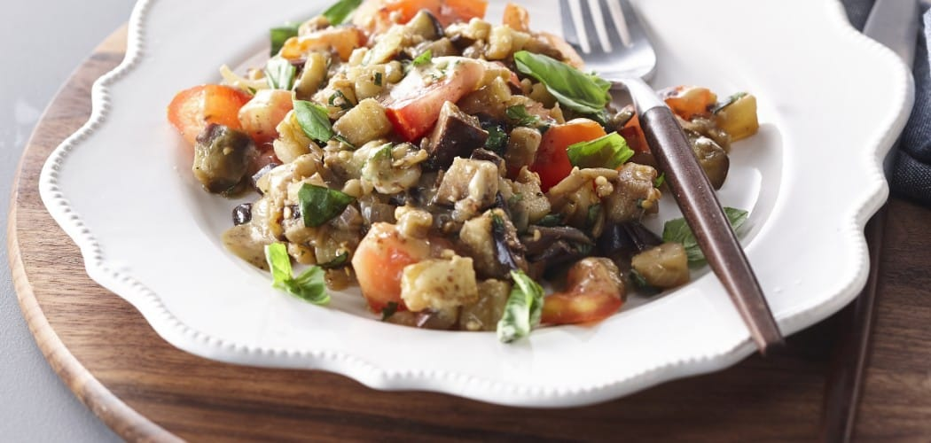 Eggplant Salad Flavoured with Whole-Grain Mustard