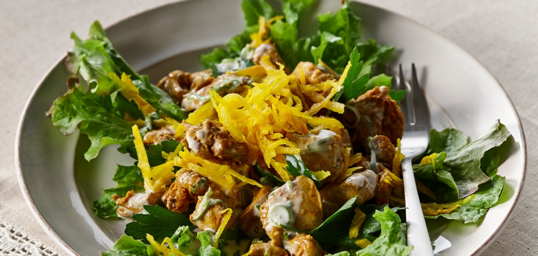 Salad of Chicken and Yellow Beets