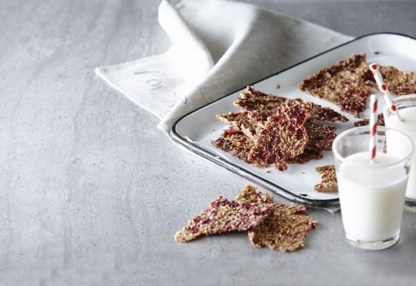 Banana and Raspberry Crackers