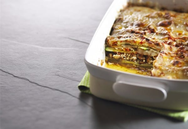 Fall vegetable and tofu lasagna