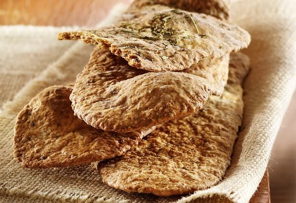 Fine herb lavash (crackers)