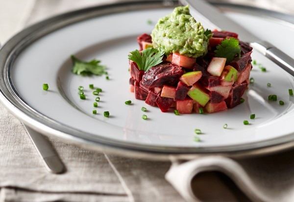 Beet and Apple Tartare